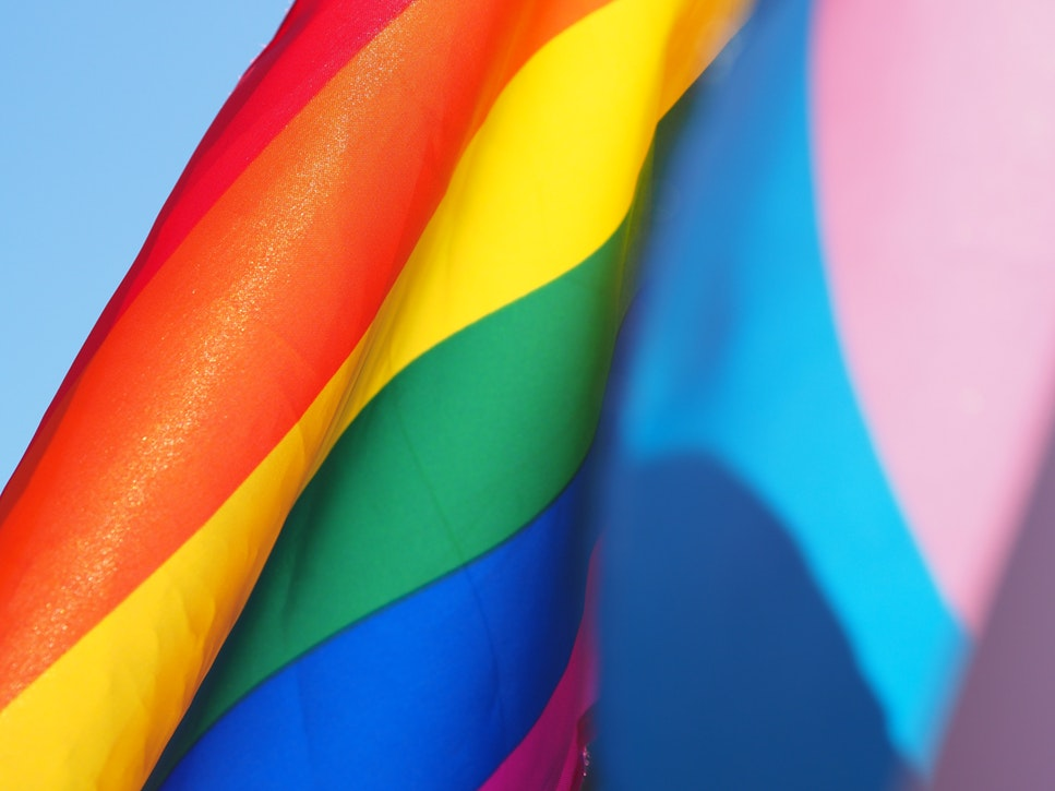 Photo of pride flag