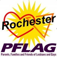 Rochester PFLAG Logo: Parents, Families, and Friends of Lesbians and Gays