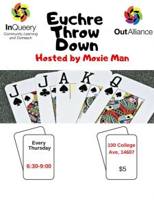 Euchre Throw Down Poster