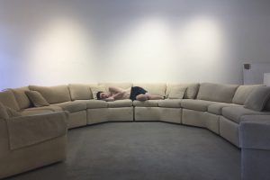 photo of person on couch for Gallery Q