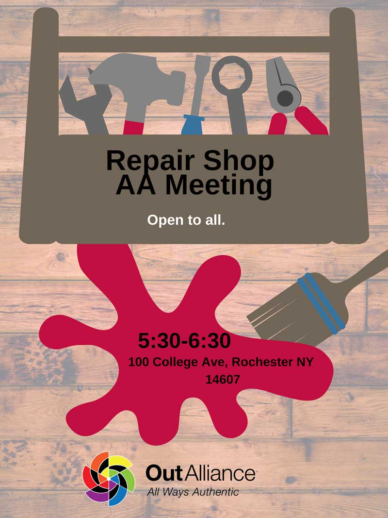 AA Repair Shop Meeting Poster
