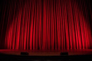 photo of curtain on stage