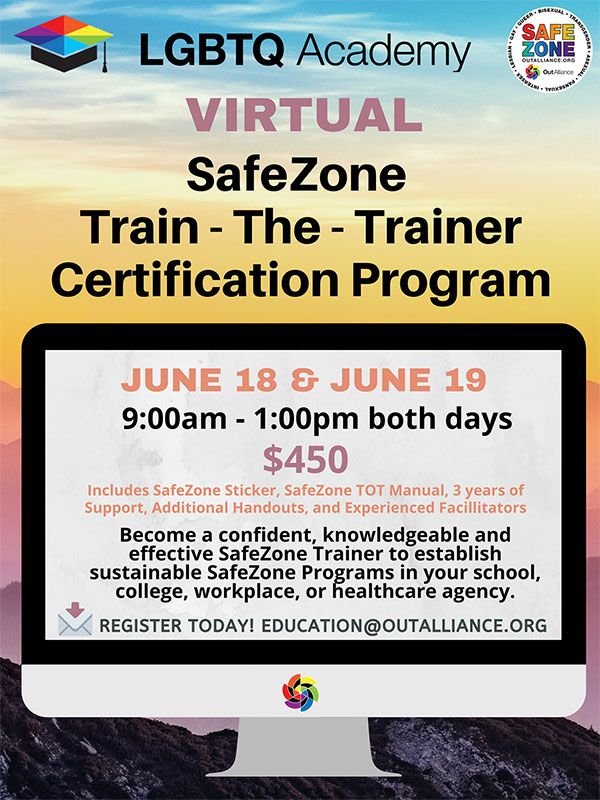 Virtual SafeZone Train the Trainer Certification Program